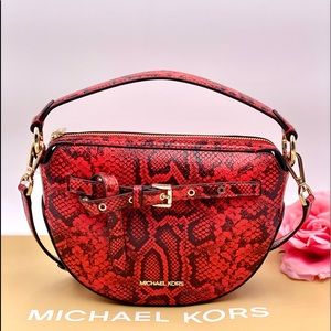 Michael Kors Emilia Half Moon Crossbody Clutch